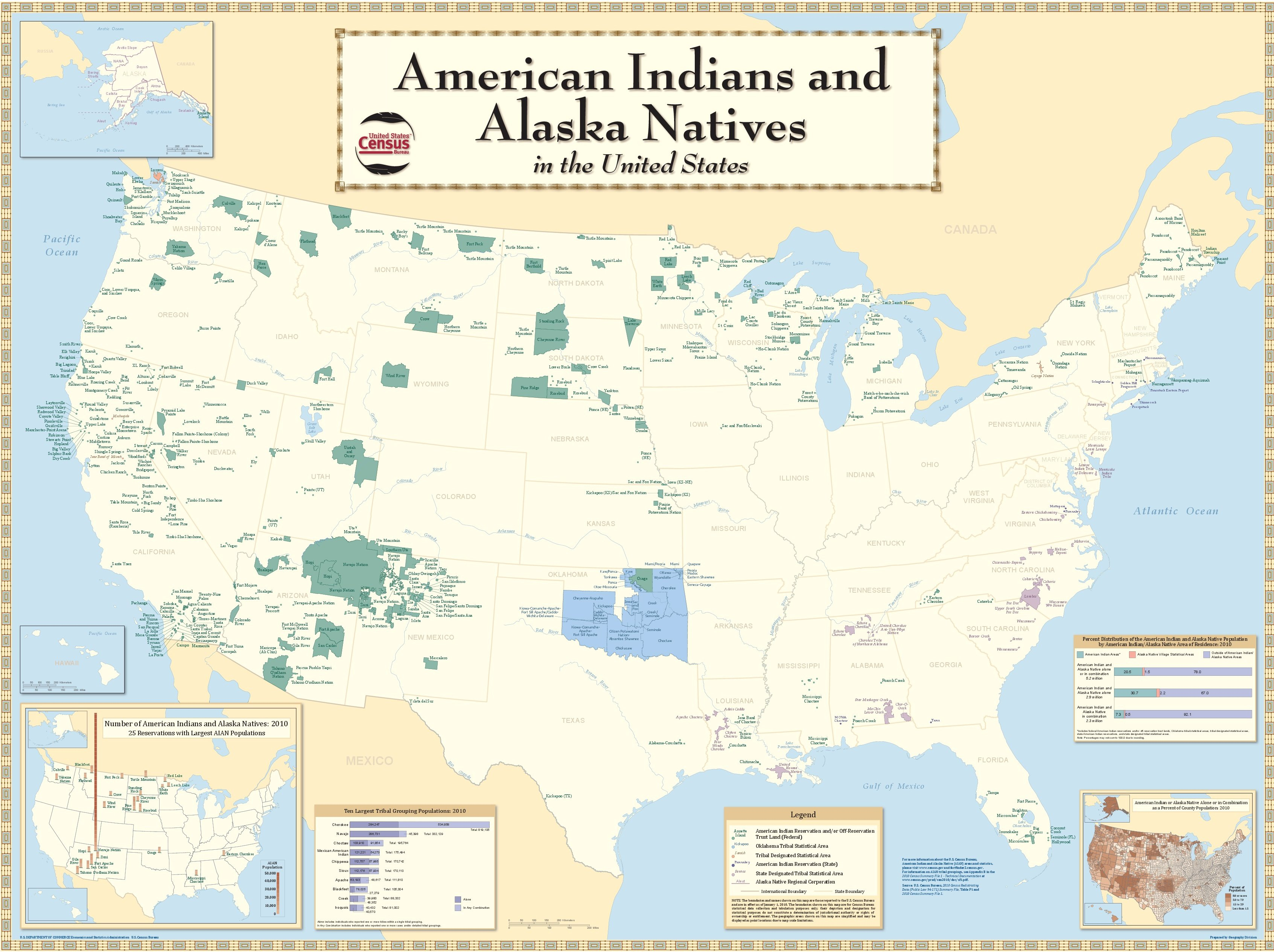 Carte Indiens Amerique Du Nord.Carte Detaillee Des Reserves Indiennes D Aujourd Hui