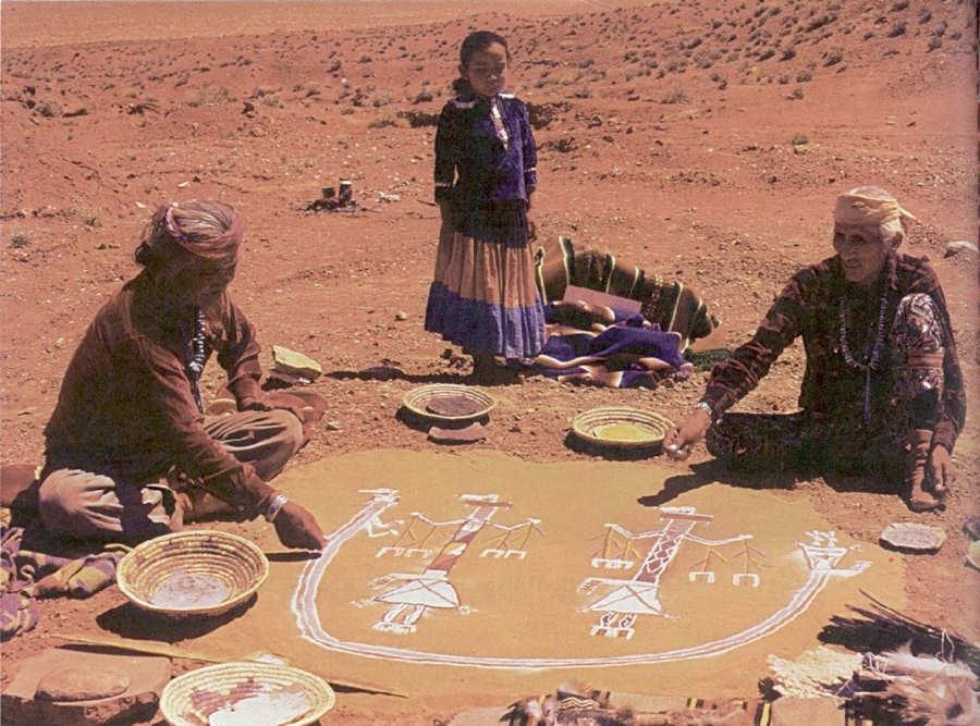 Navajos guide de voyage usa ouest am ricain arizona dream for Peinture avec du sable