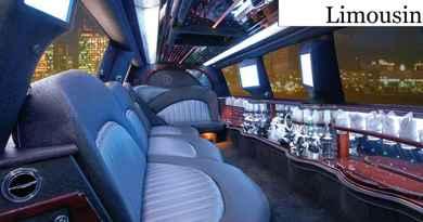 Limousine avec bouteille de champagne
