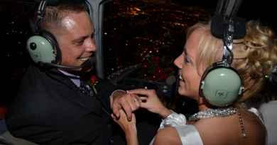 Mariage en hélicoptère dans le ciel de Las Vegas