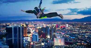 SkyJum depuis la Stratosphere Tower