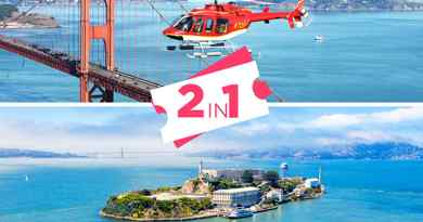 Billet Alcatraz + Survol San Francisco en hélicoptère