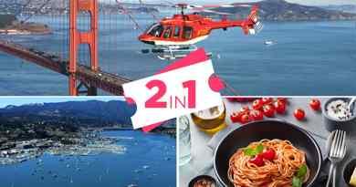 Survol hélicoptère avec déjeuner après-midi Sausalito