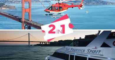 Survol hélicoptère & Dîner-croisière sur la baie