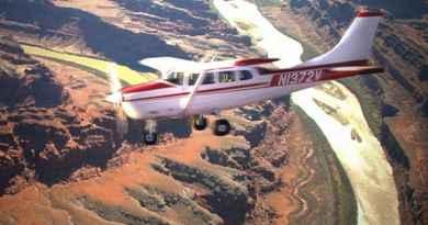 Survol du Parc national des Arches en avion
