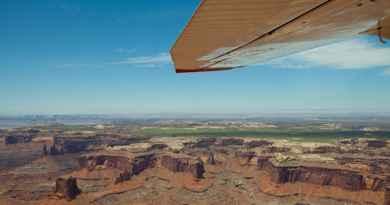 Survol du Parc national de Canyonlands en avion