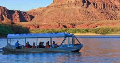 Jet boat coucher du soleil sur le Colorado avec dîner