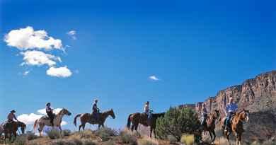 Balade à cheval dans le Canyon de Castle Valley